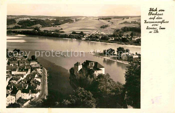 AK / Ansichtskarte Passau Blick vom Oberhaus auf den Zusammenfluss Kat. Passau