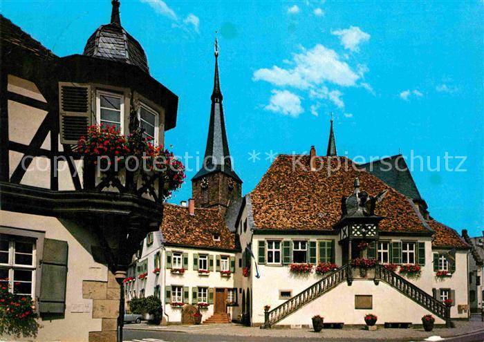 AK / Ansichtskarte Deidesheim Rathaus St Ulrich Kirche Kat. Deidesheim