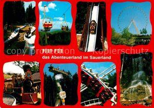AK / Ansichtskarte Bestwig Fort Fun Abenteuerland Wasserfall Riesenrad Sommerrodelbahn Achterbahn Kat. Bestwig