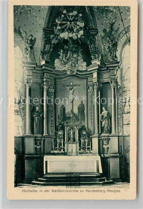 AK / Ansichtskarte Hardenberg Neviges Hochaltar in der Wallfahrtskirche