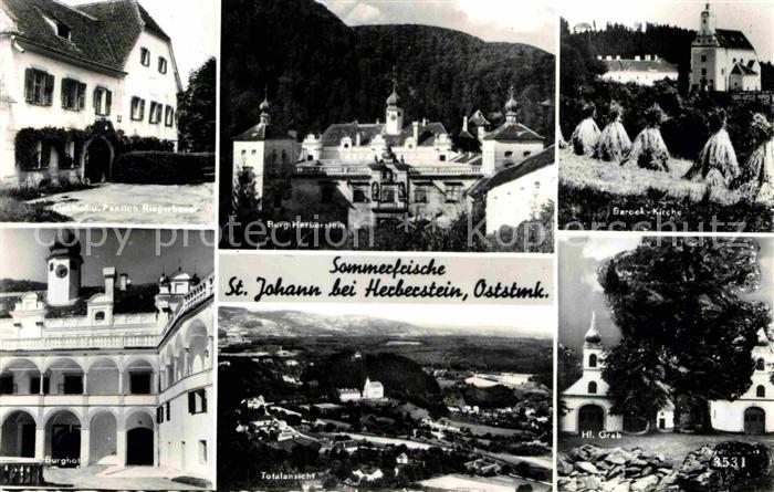 AK / Ansichtskarte Herberstein St. Johann Burg Gasthaus Pension Riegerbauer