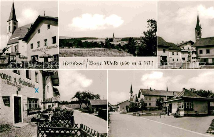AK / Ansichtskarte Gottsdorf Niederbayern Kirche Gasthaus Brunnen Kat. Untergriesbach