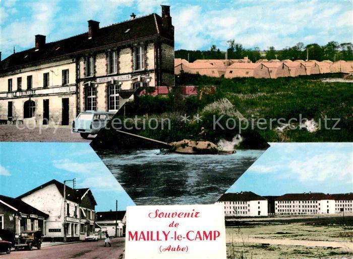 AK / Ansichtskarte Mailly le Camp Mairie Ecole des Filles Bivouac AMX 30 Rue du Camp Casernes Kat. Mailly le Camp