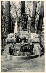 AK / Ansichtskarte Meiningen Thueringen Maerchenbrunnen im Englischen Garten Kat. Meiningen