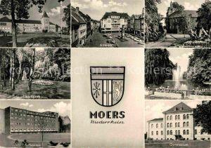 AK / Ansichtskarte Moers Rathaus Altmarkt Schloss Gymnasium Bethanien Kat. Moers