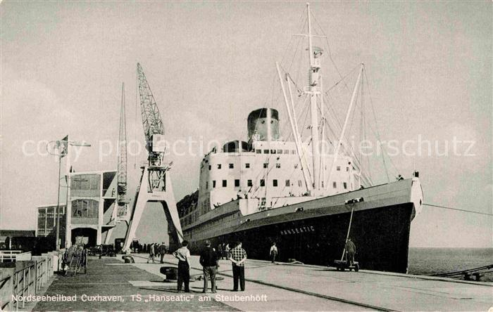 AK / Ansichtskarte Schiffe Ships Navires TS Hanseatic Cuxhaven Steubenhoeft