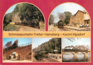 AK / Ansichtskarte Lokomotive Schmalspurbahn Bahnhof Kipsdorf Viadukt Malter Schmiedeberg  Kat. Eisenbahn