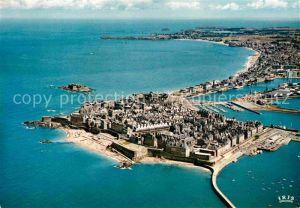 AK / Ansichtskarte Saint Malo Ille et Vilaine Bretagne Cite Corsaire vue aerienne Kat. Saint Malo