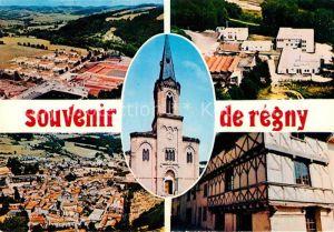 AK / Ansichtskarte Regny Loire Cite CES vue generale aerienne Maison du XV siecle Eglise Kat. Regny
