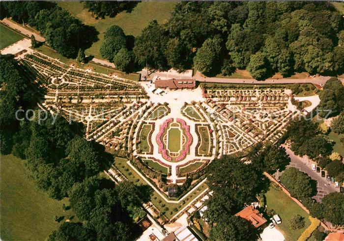 AK / Ansichtskarte Marne La Val de Marne Rosengarten Luftaufnahme Kat. La Marne