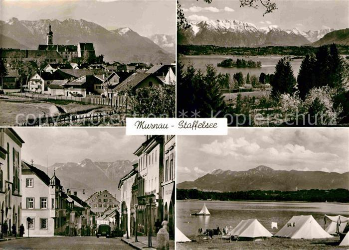 ak ansichtskarte murnau camping riegsee alpenblick kat murnau a staffelsee nr kt60506. Black Bedroom Furniture Sets. Home Design Ideas