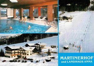 AK / Ansichtskarte Sankt MartInnkreis Gasthof Martinerhof Sankt Martin Lammertal Winter Skilift Kat. Sankt Martin im Innkreis