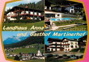 AK / Ansichtskarte Sankt MartInnkreis Gasthof Martinerhof Landhaus Anna Tennengebirge Lammertal Kat. Sankt Martin im Innkreis