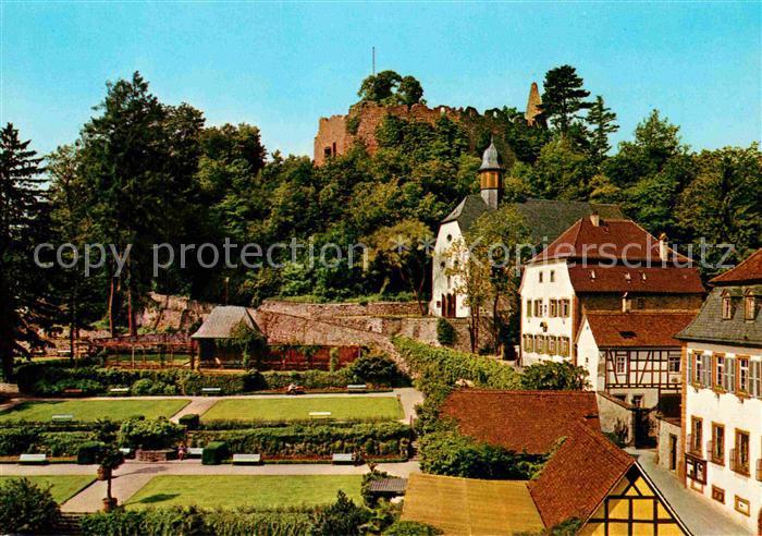 AK / Ansichtskarte Lindenfels Odenwald Kurgarten Burg Kat. Lindenfels