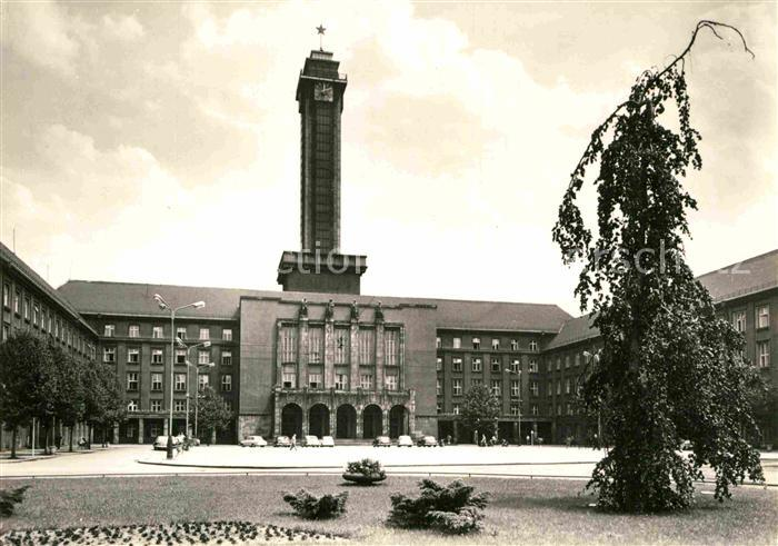 AK / Ansichtskarte Ostrava Platz der Oktoberrevolution Neues Rathaus Kat. Ostrava