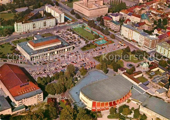 AK / Ansichtskarte Karlsruhe Baden Festhallenplatz Fliegeraufnahme