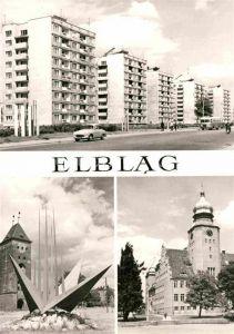 AK / Ansichtskarte Elblag Wohnsiedlung Kirche Denkmal Kat. Elblag