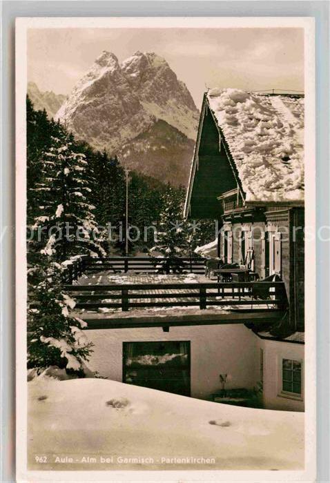 AK / Ansichtskarte Garmisch Partenkirchen Aule Alm  Kat. Garmisch Partenkirchen