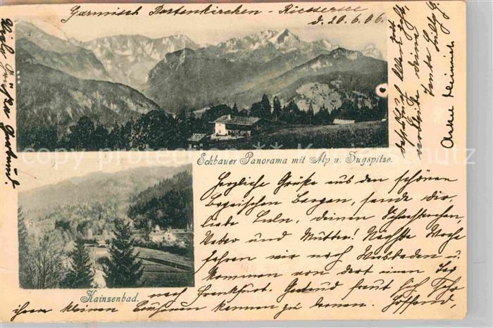 AK / Ansichtskarte Eckbauer Alm Alpspitze Zugspitze