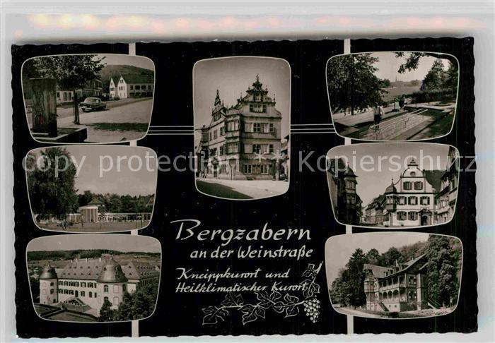 AK / Ansichtskarte Bergzabern Bad Rathaus Schloss Kurhaus Park Kat. Bad Bergzabern