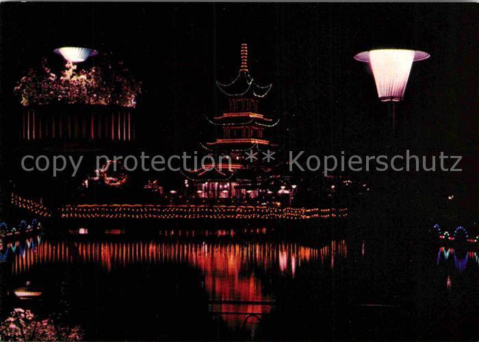 AK / Ansichtskarte Kopenhagen Tivoli Der Chinesische Turm Nachtaufnahme Kat. Hovedstaden