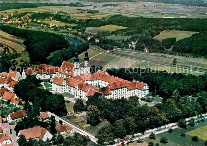 AK / Ansichtskarte Obermarchtal Schloss mit Blick auf Rechtenstein Fliegeraufnahme Kat. Obermarchtal
