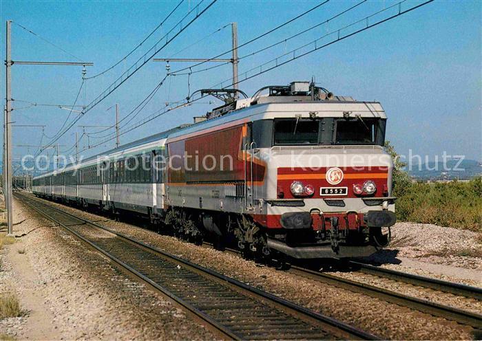 AK / Ansichtskarte Lokomotive Staatsbahn Frankreich Elektrische Lokomotive CC 6552 St. Chamas  Kat. Eisenbahn