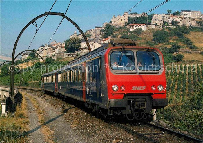 AK / Ansichtskarte Eisenbahn Staatsbahn Frankreich Elektrischer Triebwagen Z 2 Aguessac  Kat. Eisenbahn
