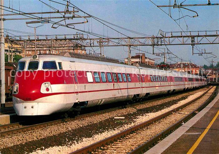 AK / Ansichtskarte Eisenbahn Elektro Schnelltriebwagenzug 450 Pendolino Staatsbahn Italien  Kat. Eisenbahn