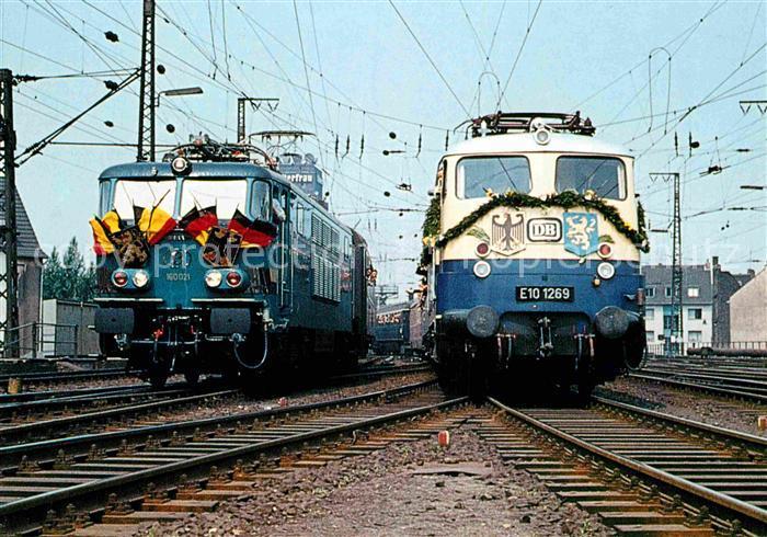 AK / Ansichtskarte Lokomotive Elektro Mehrsystem Lokomotive 160021 E101269 Staatsbahn Belgien Deutsche Bahn  Kat. Eisenbahn