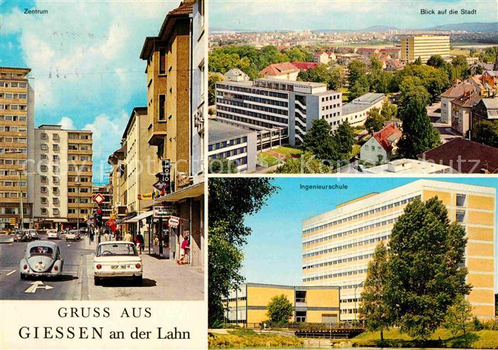 AK / Ansichtskarte Giessen Lahn Zentrum Ingenieurschule Stadtpanorama Kat. Giessen