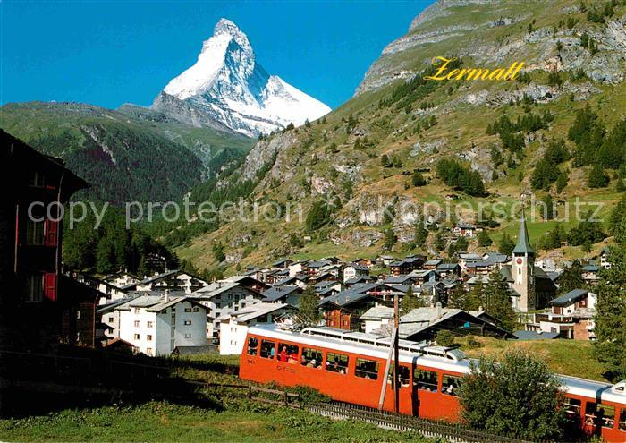 AK / Ansichtskarte Gornergratbahn Zermatt Matterhorn Mt. Cervin Kat. Gornergrat