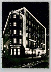AK / Ansichtskarte Bielefeld Hotel Kaiserhof Nachtaufnahme Kat. Bielefeld
