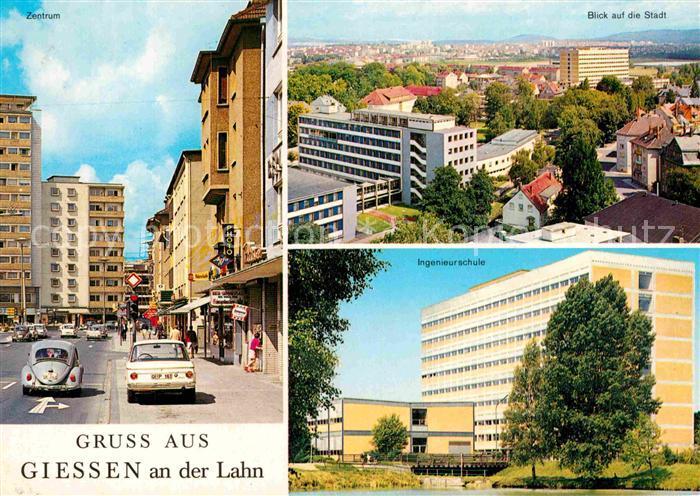 AK / Ansichtskarte Giessen Lahn Panorama Zentrum Ingenieurschule Kat. Giessen