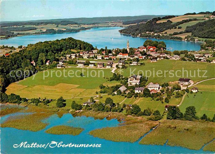 AK / Ansichtskarte Mattsee Salzburg Obertrumersee Fliegeraufnahme Kat. Mattsee