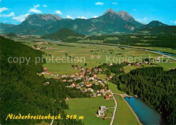 AK / Ansichtskarte Niederbreitenbach Erholungsort Unterinntal mit Kaisergebirge Fliegeraufnahme