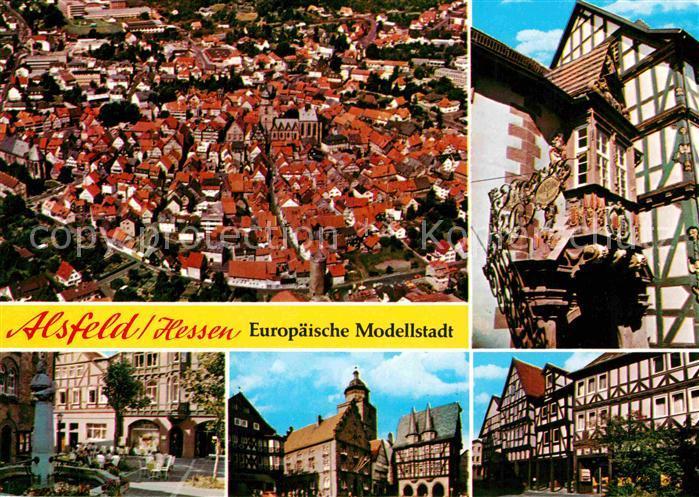 AK / Ansichtskarte Alsfeld Altstadt Fachwerkhaeuser Fliegeraufnahme Kat. Alsfeld