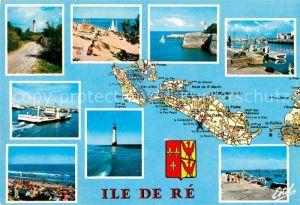 AK / Ansichtskarte Ile de Re Panorama Cote Atlantique Phare Trousse Chemise Saint Martin La Flotte Bac marechal de Toiras Le Bois Rivedoux Kat. Saint Martin de Re