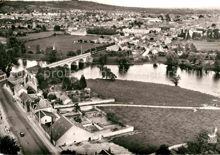 AK / Ansichtskarte Saint Amand Montrond Fliegeraufnahme Pont du Cher St Amand Kat. Saint Amand Montrond