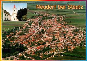 AK / Ansichtskarte Neudorf Staatz Fliegeraufnahme Kat. Neudorf bei Staatz