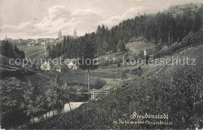 AK / Ansichtskarte Freudenstadt Partie im Christophstal Kat. Freudenstadt