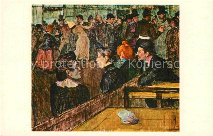 AK / Ansichtskarte Kuenstlerkarte Moulin de la Galette Henri de Toulouse Lautrec  Kat. Kuenstlerkarte
