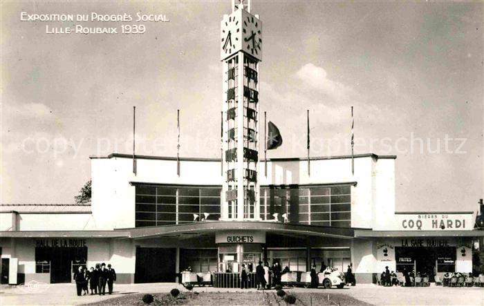 AK / Ansichtskarte Expositions Exposition du Progres Social Lille Roubaix Gare Routiere Kat. Expositions
