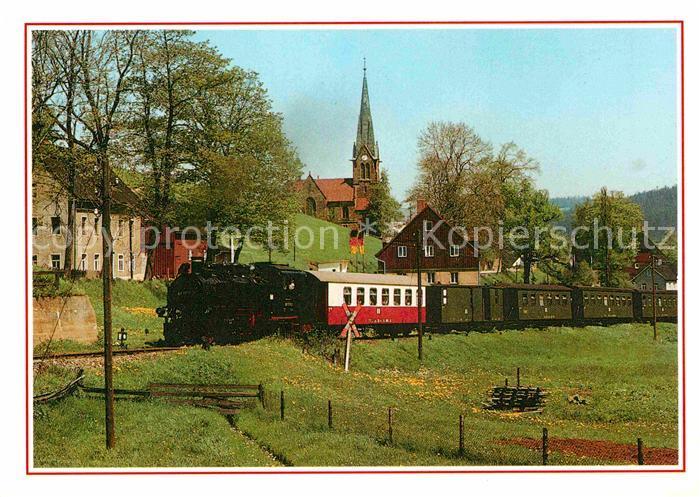 AK / Ansichtskarte Lokomotive Schmalspurbahn Cranzahl Oberwiesenthal Hammerunterwiesenthal  Kat. Eisenbahn