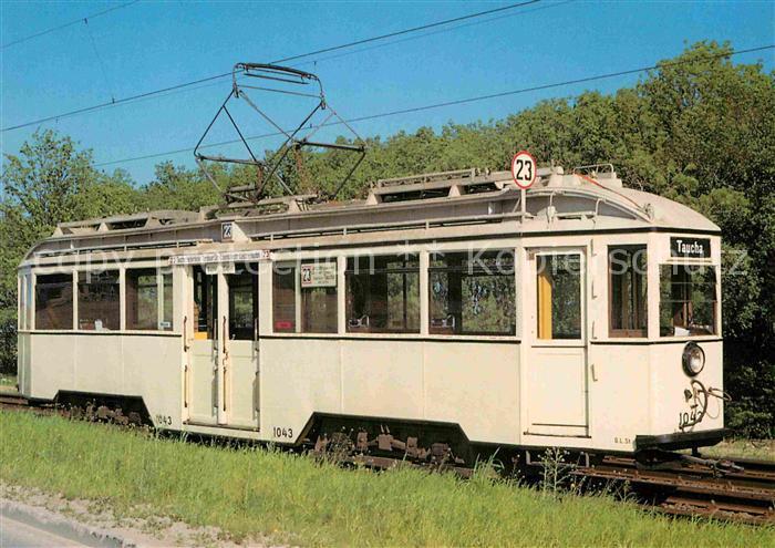 ak ansichtskarte strassenbahn triebwagen 1043 typ 29 leipzig kat strassenbahn nr kb73232. Black Bedroom Furniture Sets. Home Design Ideas