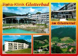 AK / Ansichtskarte Glottertal Reha Klinik Glotterbad Landschaftspanorama Schwarzwald Kat. Glottertal Schwarzwald