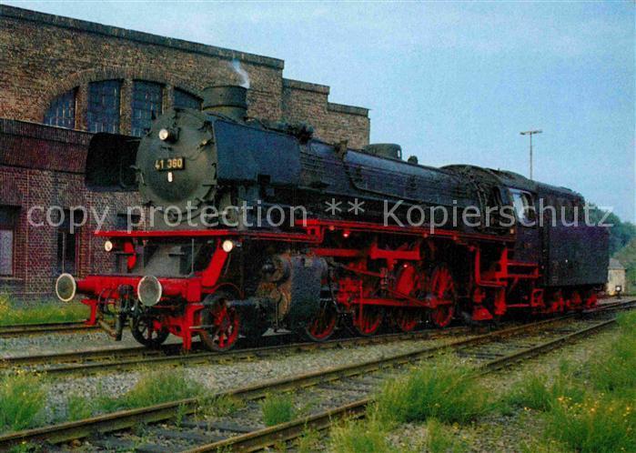 AK / Ansichtskarte Lokomotive Dampf Gueterzuglokomotive 41360 Deutsche Reichsbahn  Kat. Eisenbahn