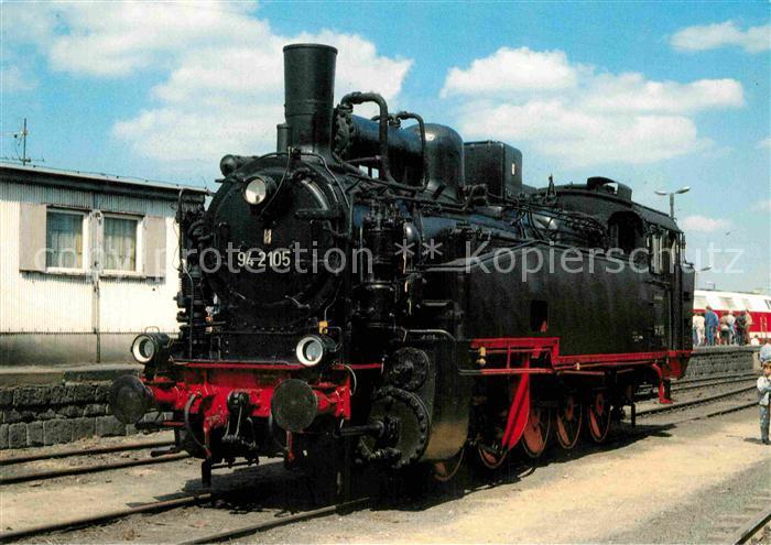 AK / Ansichtskarte Lokomotive Dampf Gueterzuglokomotive 942105 Deutsche Reichsbahn  Kat. Eisenbahn