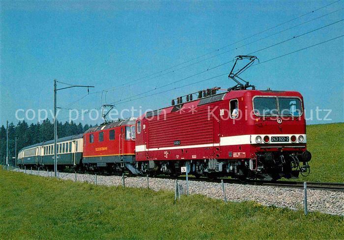 AK / Ansichtskarte Lokomotive Elektro Lokomotiven 243922 2 Re 4 4 Nr. 41 Deutsche Reichsbahn Kat. Eisenbahn
