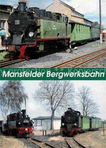 AK / Ansichtskarte Lokomotive Mansfelder Bergwerksbahn Lok Nr. 10 Lok.Nr. 7 Kat. Eisenbahn